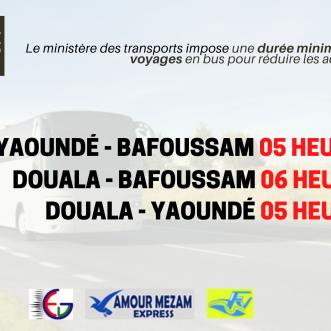 Communication sur la durée minimum du trajet sur les axes routiers
